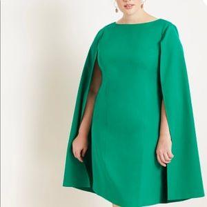 Eloquii Green Cape Dress Size 18 - Worn Once